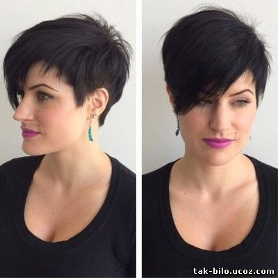 Pixie long haircut